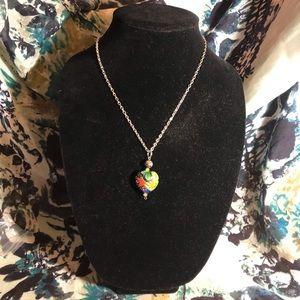 Marvelous millefiori heart pendant